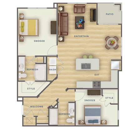 2 Bedrooms 2 Bathrooms Apartment for rent at Park 9 Apartments in Woodstock, GA