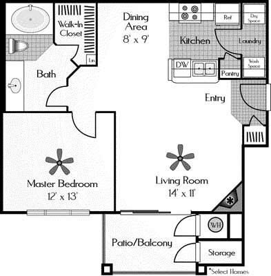1 Bedroom 1 Bathroom Apartment for rent at The Legacy At Highlands Ranch Apartments in Highlands Ranch, CO