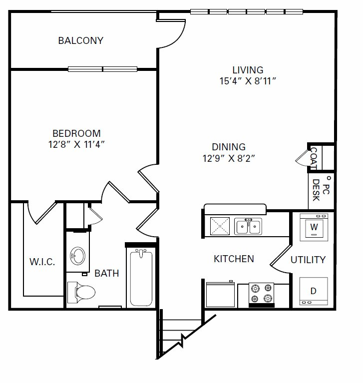 1 Bedroom 1 Bathroom Apartment for rent at The Manor Homes Of Arborwalk in Lees Summit, MO