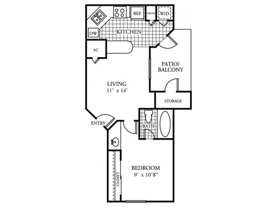 1 Bedroom 1 Bathroom Apartment for rent at Arbors Of Wells Branch in Austin, TX