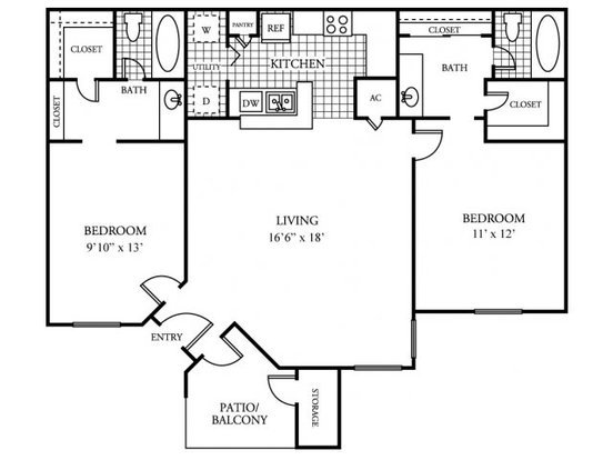 2 Bedrooms 2 Bathrooms Apartment for rent at Arbors Of Wells Branch in Austin, TX
