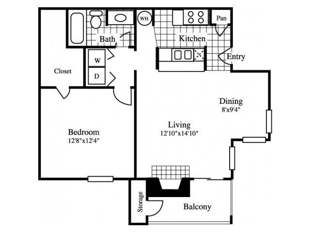 1 Bedroom 1 Bathroom Apartment for rent at Cinnamon Park in Arlington, TX