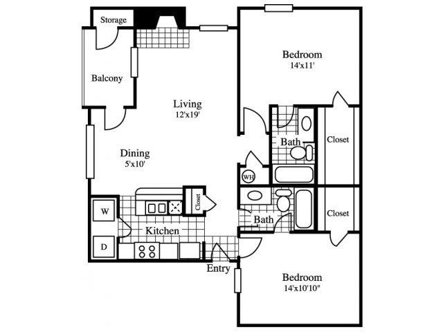 2 Bedrooms 2 Bathrooms Apartment for rent at Cinnamon Park in Arlington, TX