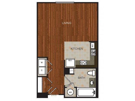 Studio 1 Bathroom Apartment for rent at River View in Austin, TX