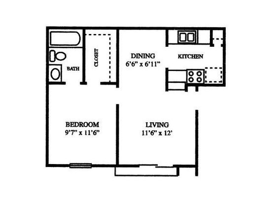 1 Bedroom 1 Bathroom Apartment for rent at Chesapeake in Austin, TX