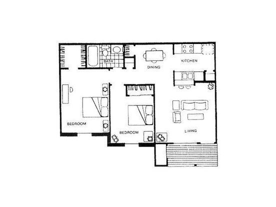 2 Bedrooms 1 Bathroom Apartment for rent at Chesapeake in Austin, TX