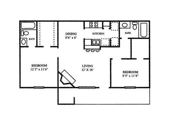 2 Bedrooms 2 Bathrooms Apartment for rent at Chesapeake in Austin, TX
