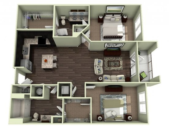 2 Bedrooms 2 Bathrooms Apartment for rent at Lavie Southpark in Charlotte, NC
