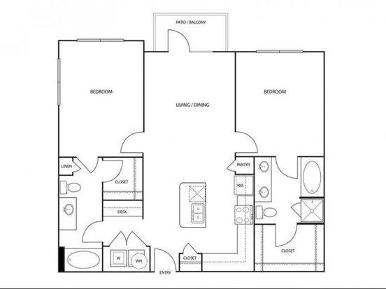 2 Bedrooms 2 Bathrooms Apartment for rent at Villaggio Apartments in Mansfield, TX