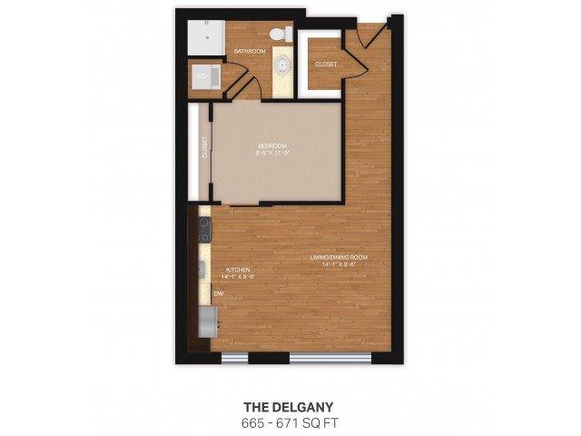 1 Bedroom 1 Bathroom Apartment for rent at Verve in Denver, CO