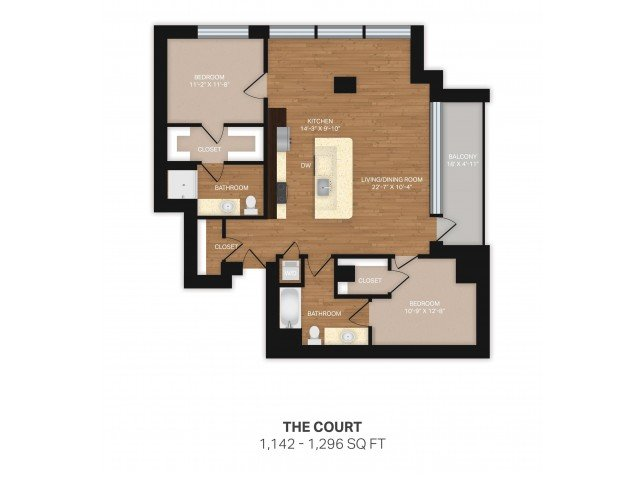 2 Bedrooms 2 Bathrooms Apartment for rent at Verve in Denver, CO