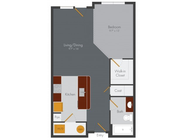 Studio 1 Bathroom Apartment for rent at Pencil Factory Flats & Shops in Atlanta, GA