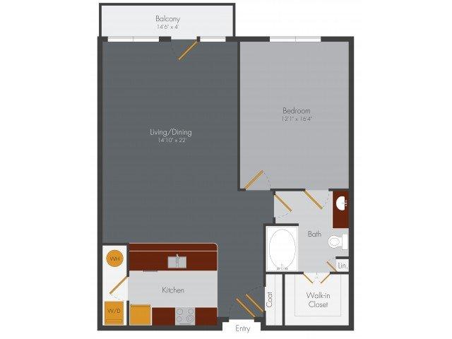 1 Bedroom 1 Bathroom Apartment for rent at Pencil Factory Flats & Shops in Atlanta, GA