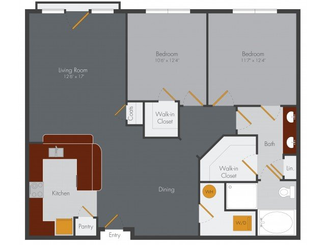 2 Bedrooms 1 Bathroom Apartment for rent at Pencil Factory Flats & Shops in Atlanta, GA