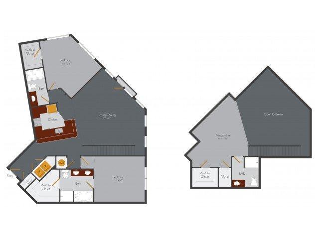 3 Bedrooms 3 Bathrooms Apartment for rent at Pencil Factory Flats & Shops in Atlanta, GA