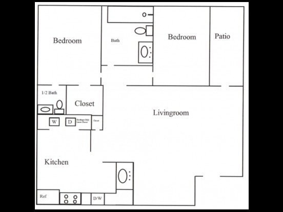 2 Bedrooms 1 Bathroom Apartment for rent at Sugar Plum Creek Apartments in Tulsa, OK