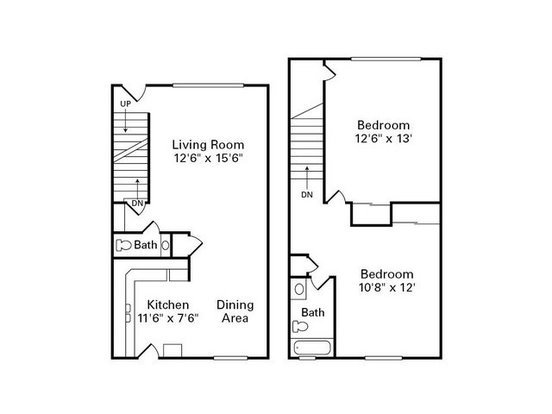 2 Bedrooms 1 Bathroom Apartment for rent at Havenwood Townhomes in Columbus, OH
