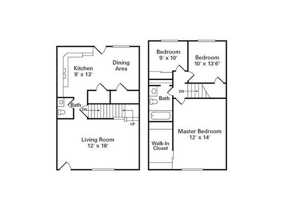 3 Bedrooms 1 Bathroom Apartment for rent at Havenwood Townhomes in Columbus, OH