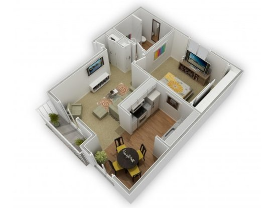 1 Bedroom 1 Bathroom Apartment for rent at Pacific Terrace West Apartments in San Jose, CA