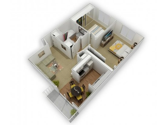 2 Bedrooms 1 Bathroom Apartment for rent at Pacific Terrace West Apartments in San Jose, CA