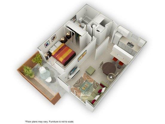 1 Bedroom 1 Bathroom Apartment for rent at Casa Verde Apartments in San Jose, CA