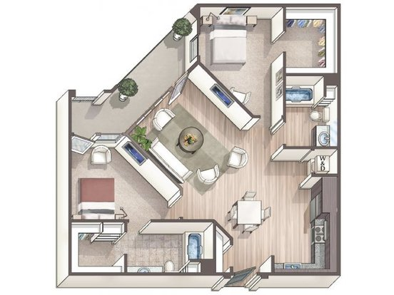 2 Bedrooms 2 Bathrooms Apartment for rent at Linq Midtown in Sacramento, CA