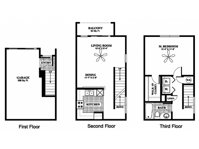 1 Bedroom 1 Bathroom Apartment for rent at Palazzo Townhomes in Phoenix, AZ