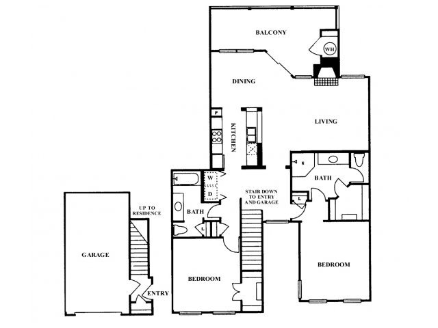2 Bedrooms 2 Bathrooms Apartment for rent at Somerset Townhomes in Austin, TX