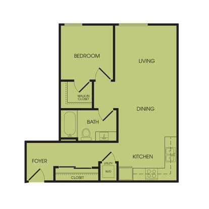 1 Bedroom 1 Bathroom Apartment for rent at Broadstone Infinity in Seattle, WA