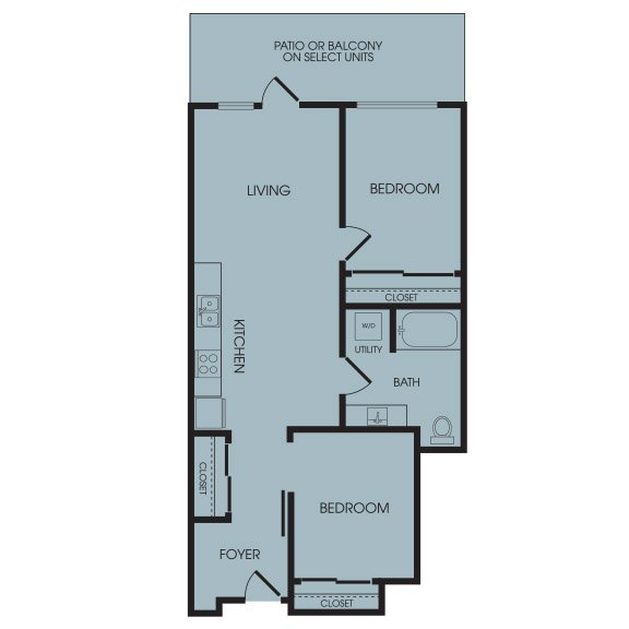 2 Bedrooms 1 Bathroom Apartment for rent at Broadstone Infinity in Seattle, WA