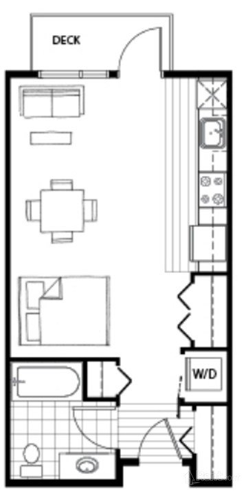 Studio 1 Bathroom Apartment for rent at Axis in Seattle, WA