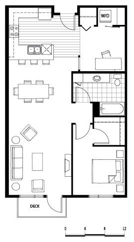 1 Bedroom 1 Bathroom Apartment for rent at Axis in Seattle, WA