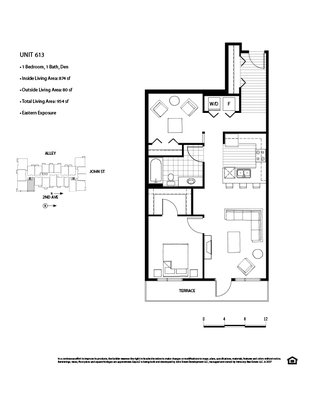 1 Bedroom 2 Bathrooms Apartment for rent at Axis in Seattle, WA