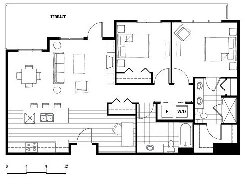 2 Bedrooms 2 Bathrooms Apartment for rent at Axis in Seattle, WA