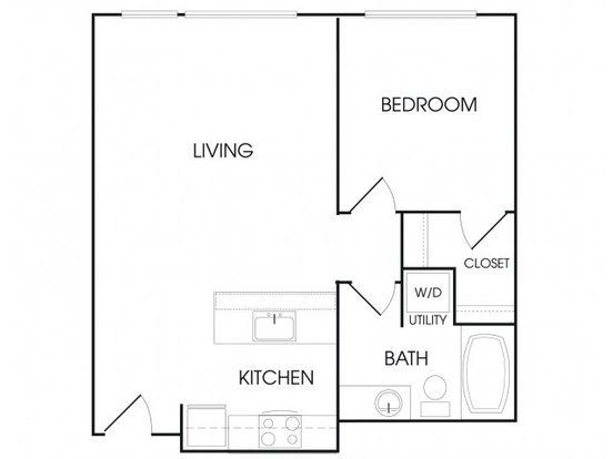 1 Bedroom 1 Bathroom Apartment for rent at Broadstone Sky in Seattle, WA