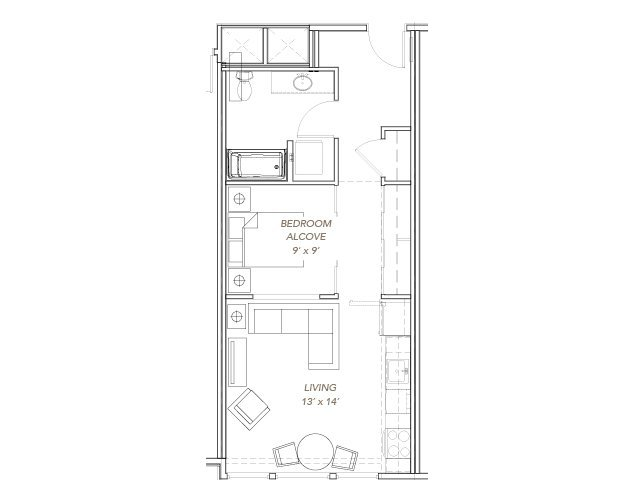 1 Bedroom 1 Bathroom Apartment for rent at Green Lake Village in Seattle, WA