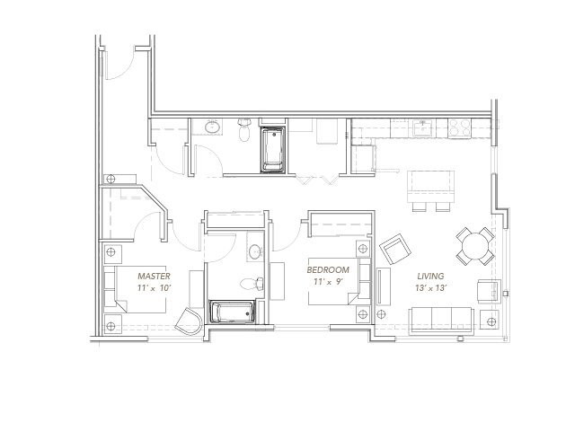 2 Bedrooms 2 Bathrooms Apartment for rent at Green Lake Village in Seattle, WA