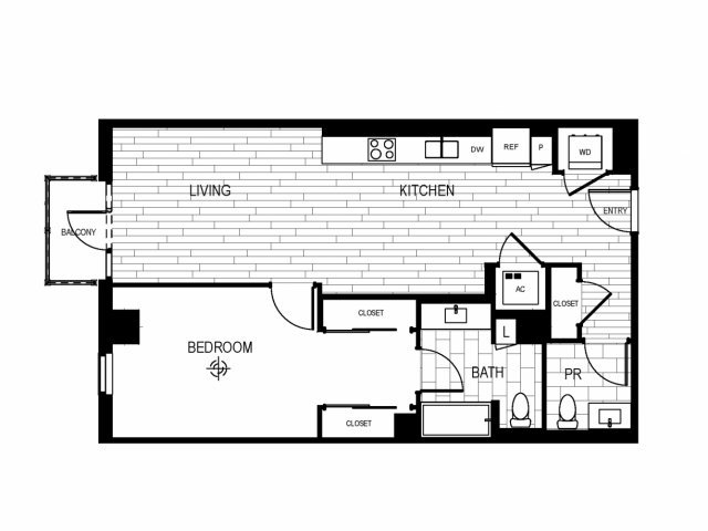1 Bedroom 1 Bathroom Apartment for rent at The Current in Long Beach, CA