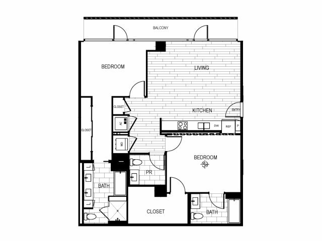 2 Bedrooms 2 Bathrooms Apartment for rent at The Current in Long Beach, CA