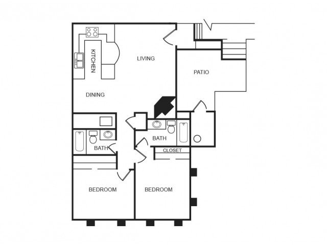 2 Bedrooms 2 Bathrooms Apartment for rent at Aria On Mill in Tempe, AZ