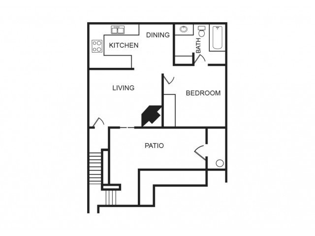 1 Bedroom 1 Bathroom Apartment for rent at Aria On Mill in Tempe, AZ