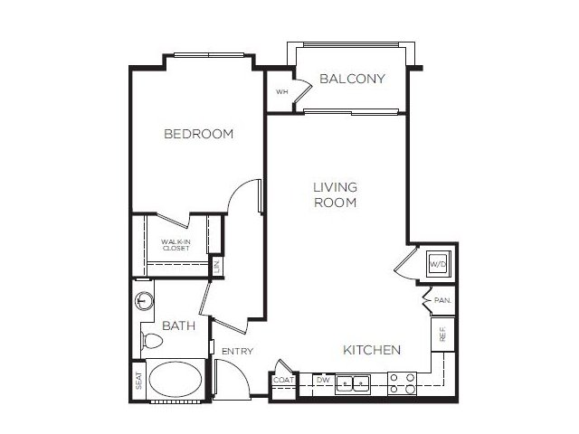 1 Bedroom 1 Bathroom Apartment for rent at Tribeca Urban in Marina Del Rey, CA