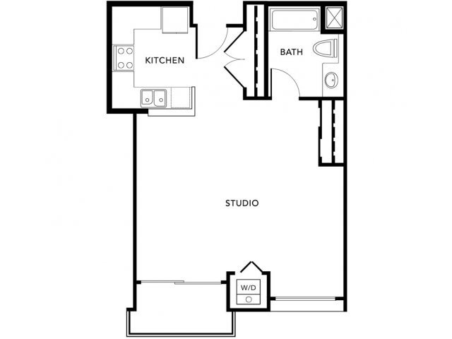 Studio 1 Bathroom Apartment for rent at Living At No Ho in North Hollywood, CA