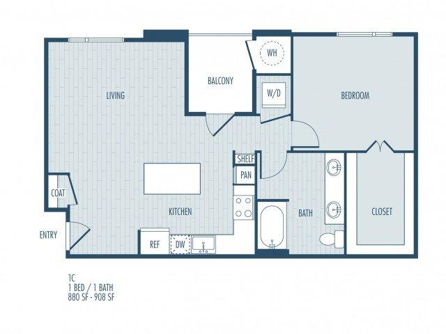 1 Bedroom 1 Bathroom Apartment for rent at Parq At Iliff in Aurora, CO