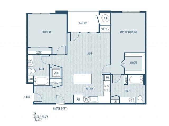 2 Bedrooms 2 Bathrooms Apartment for rent at Parq At Iliff in Aurora, CO