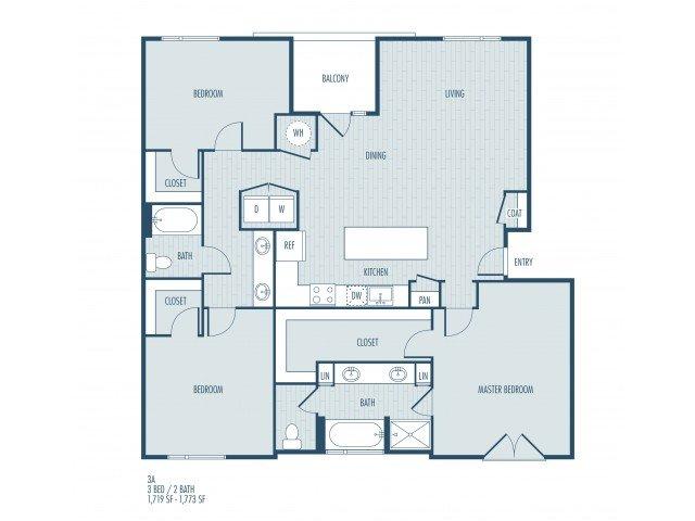 3 Bedrooms 2 Bathrooms Apartment for rent at Parq At Iliff in Aurora, CO