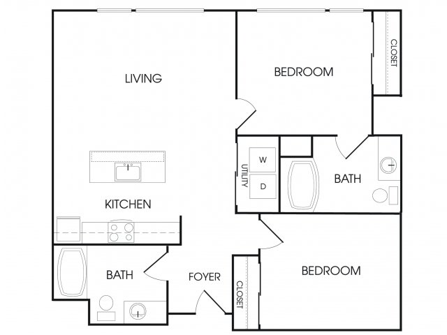 2 Bedrooms 2 Bathrooms Apartment for rent at Broadstone Sky in Seattle, WA