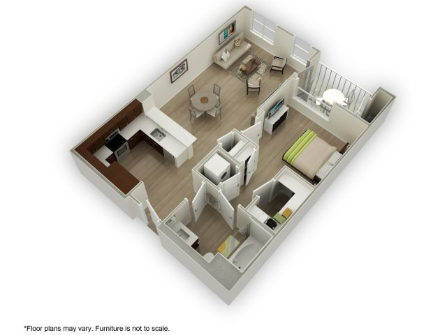 1 Bedroom 1 Bathroom Apartment for rent at 201 Marshall Apartments in Redwood City, CA