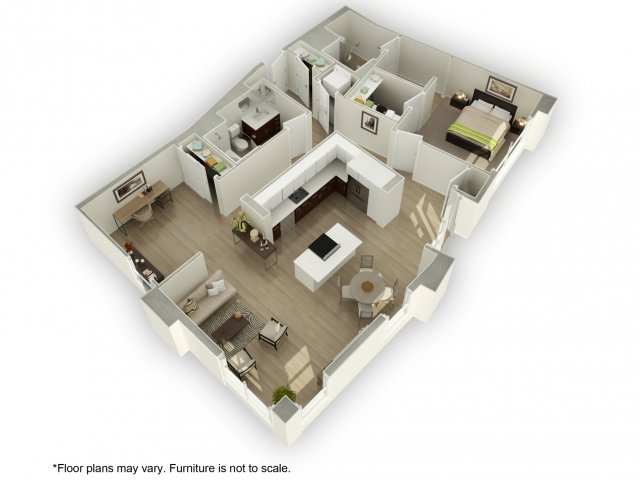 1 Bedroom 2 Bathrooms Apartment for rent at 201 Marshall Apartments in Redwood City, CA