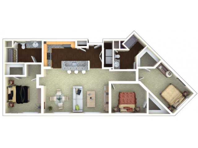 3 Bedrooms 2 Bathrooms Apartment for rent at Elements in San Jose, CA